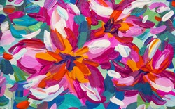 Pink Plumeria Flower Painting - Tropical Painting Art - Brush Painting Nature