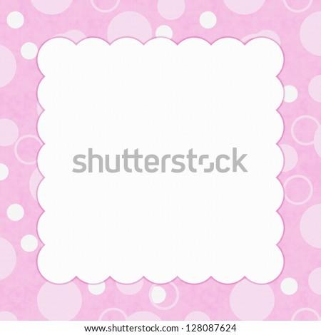 pink polka dot invitation template ez canvas
