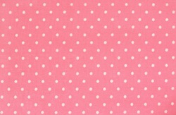Pink polka dot fabric for background