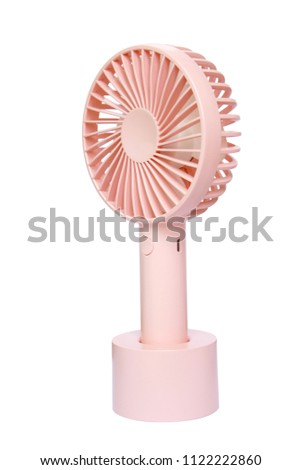 pink Portable Mini Fan isolated on white background #1122222860