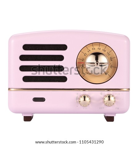 pink portable speaker #1105431290