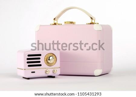 pink portable speaker #1105431293