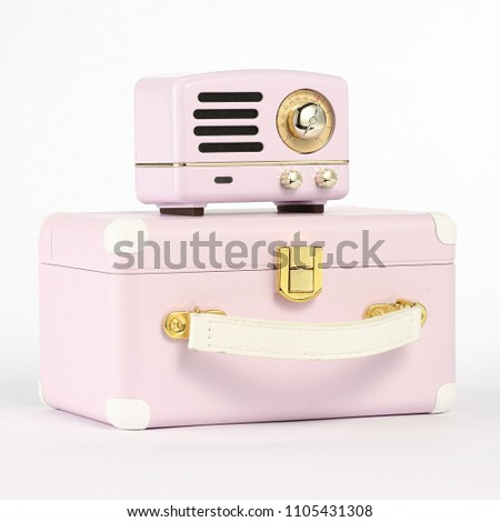 pink portable speaker #1105431308