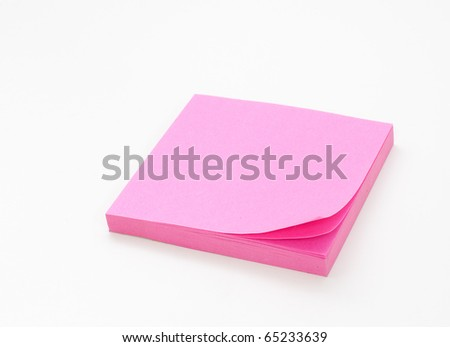 Pink Post-it note