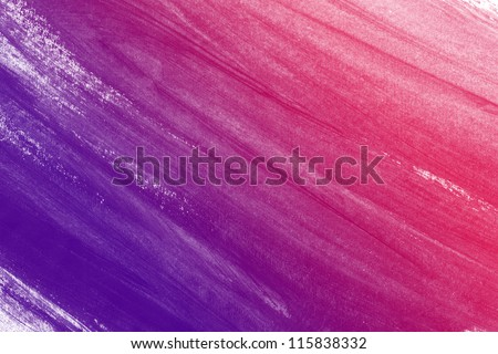 Pink / purple hand painted brush stroke background