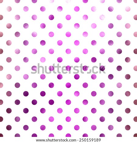 Pink Purple Mauve Metallic Foil on White Polka Dot Pattern Swiss Dots Texture Digital Paper Background