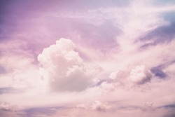 Pink purple unreal abstract clouds