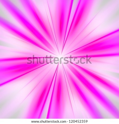 Pink rays on white background. Abstract background.