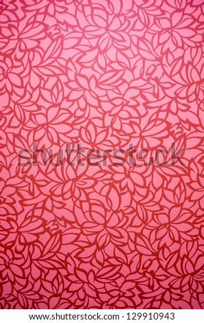 Pink red autumn tropical flora flower leaves background texture pattern with shade and gradient