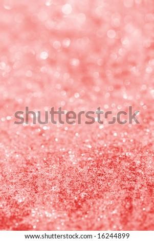 pink red glitter sparkles dust on background , super macro shot, shallow DOF