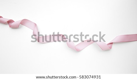 Pink ribbon on white background #583074931