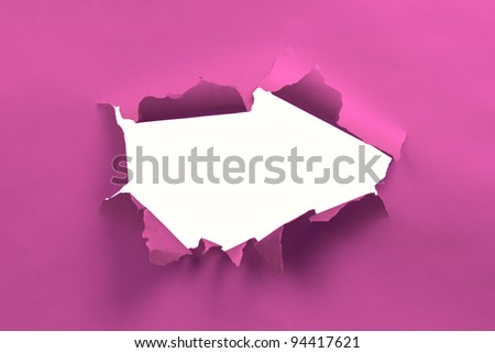 Pink ripped paper background