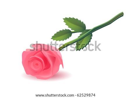 pink rose raster version