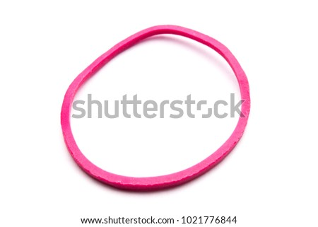 Pink Rubber Band with white background