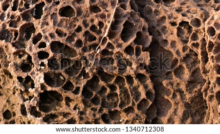 Pink Sandstone pattern.Close-up Photo