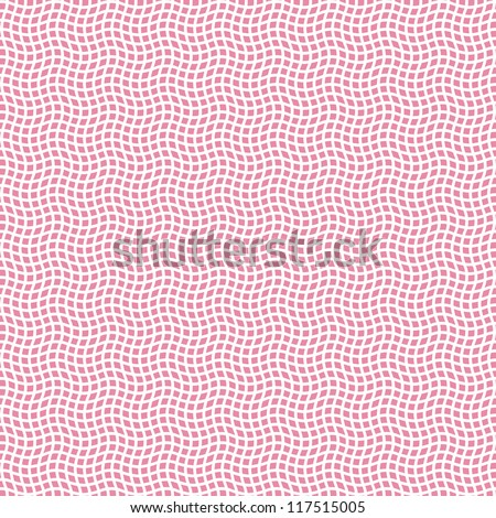 Pink seamless pattern. Crossing waves background.