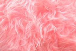 Pink Shaggy Artificial Fur