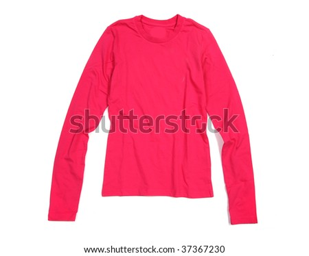 pink  shirt isolated on white