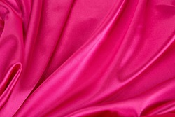 Pink silk background. Close up. Whole background.