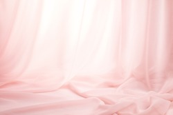 Pink silk curtains