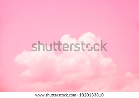 Pink sky background with white clouds. #1020133810
