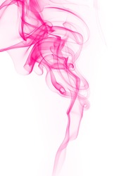 pink smoke abstract on white background