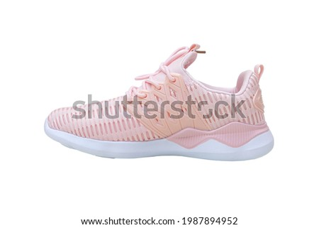 Pink sneakers for kids isolated on white background Stock photo ©