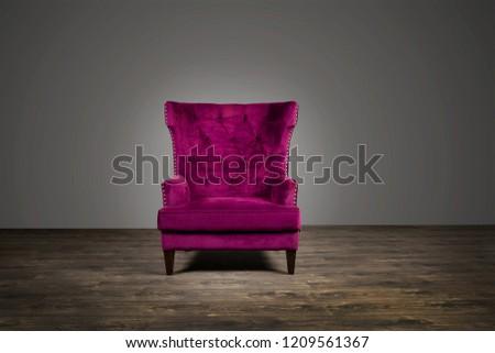 pink sofa, purple sofa, sofa on wooden floor #1209561367