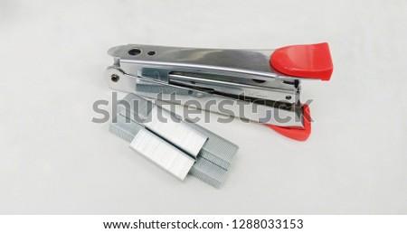 Pink stapler office supplies