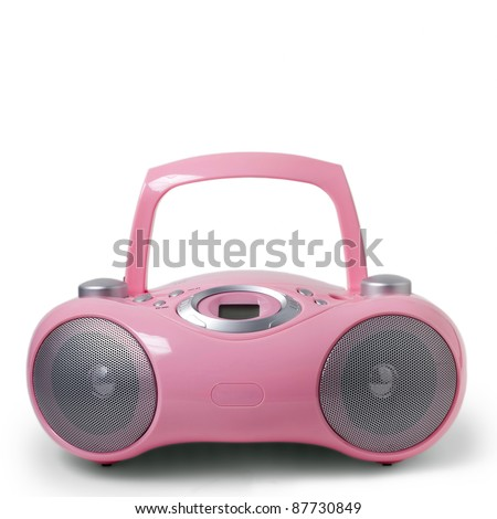 Pink stereo CD mp3 radio cassette recorder