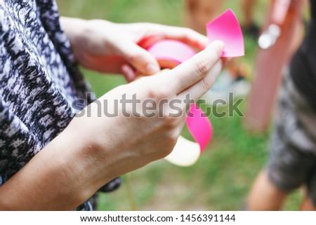 Many girls on white background Images and Stock Photos