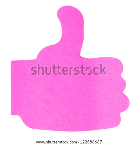 Pink sticky notes on white background