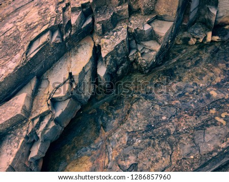 pink stone background, rock formation, geological formations #1286857960