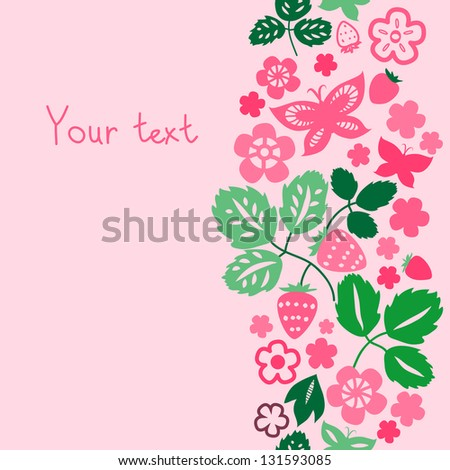 pink strawberry flowers and