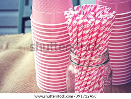 Pink Straws #391712458