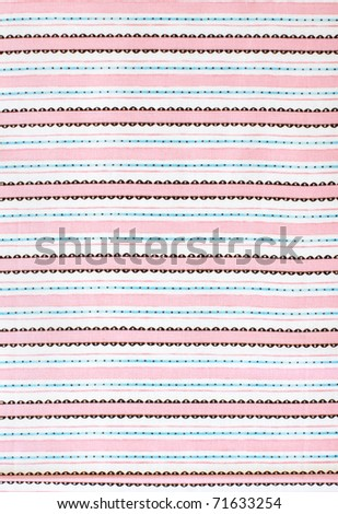 Pink stripes, fabric