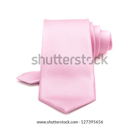 pink tie isolated