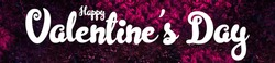 Pink Valentine's Day background with 3d hearts on red. Cute love valentine banner or greeting card.