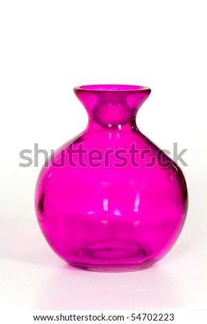 Pink Vase on the white Background