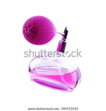 pink vintage perfume bottle...