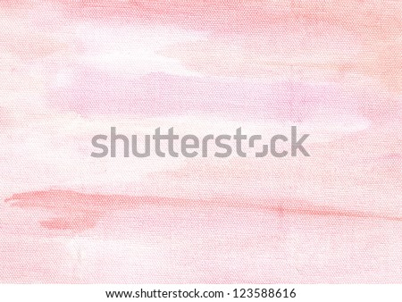 Pink watercolor abstraction background