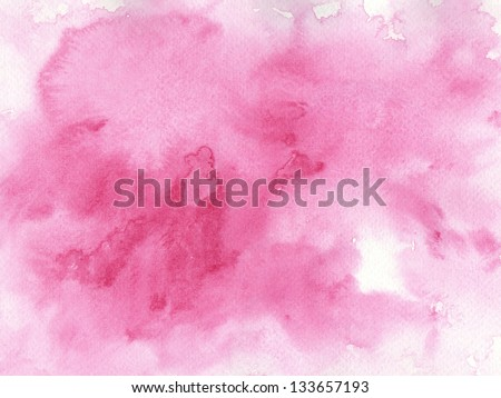 pink watercolor background for your design.painting on paper from my originals