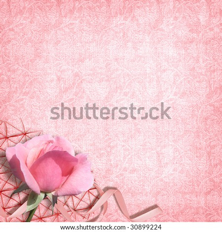 stock photo Pink wedding background