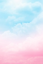 pink with blue cloud with pastel color background