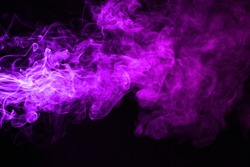 Pink with purple color of smoke on dark background