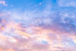 Pinkish evening sky, vanilla sky