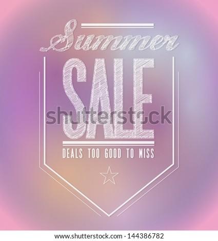 pinks summer sale poster sign banner illustration design