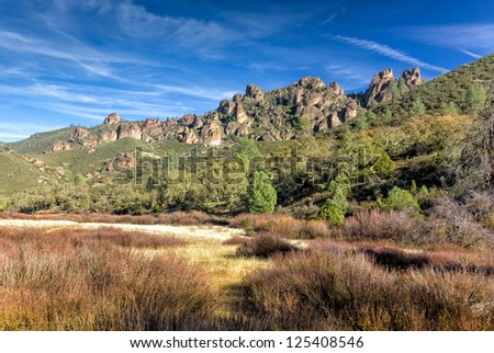 Pinnacles National Monument in California, USA.