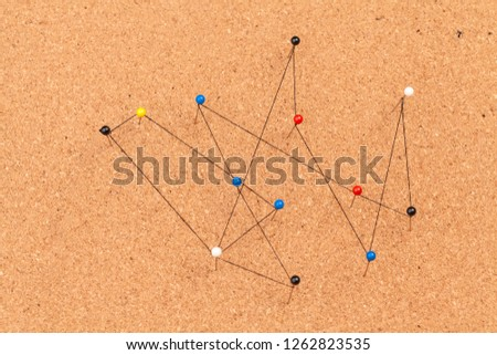 pins connected creating a network #1262823535