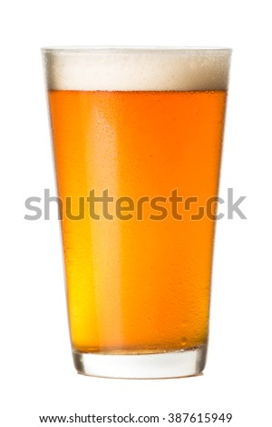 Pint glass of Pale Ale Beer isolated on White background Stock photo ©